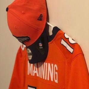 Nike Broncos Manning #18 Game Jersey & Hat